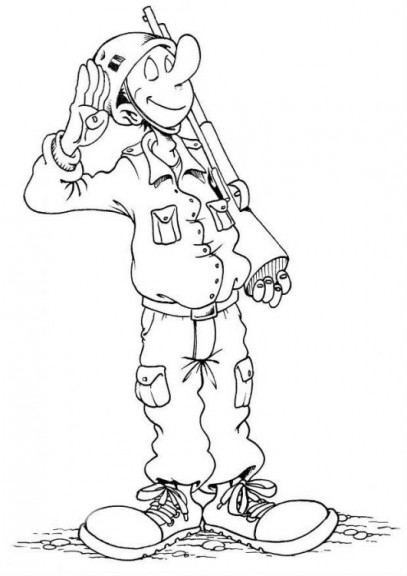 Coloriage soldat militaire imprimer et colorier - Coloriage petit soldat ...