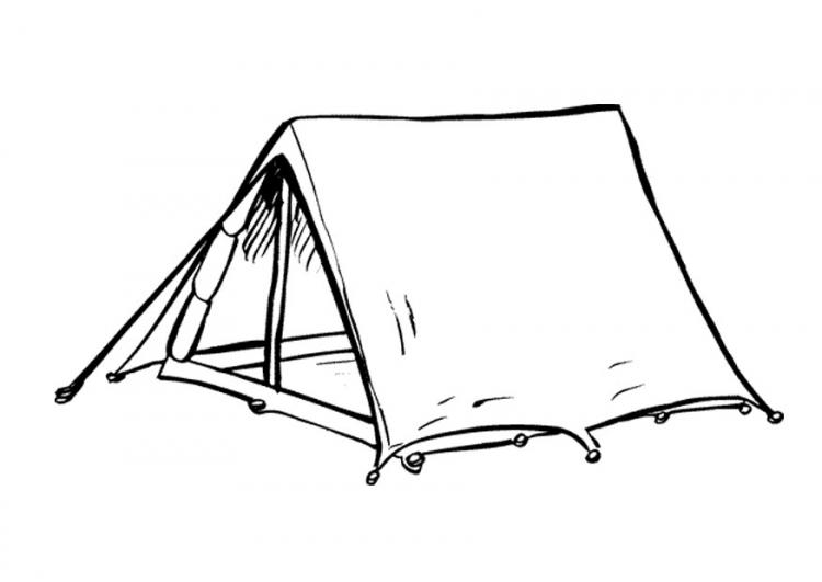 Coloriage tente