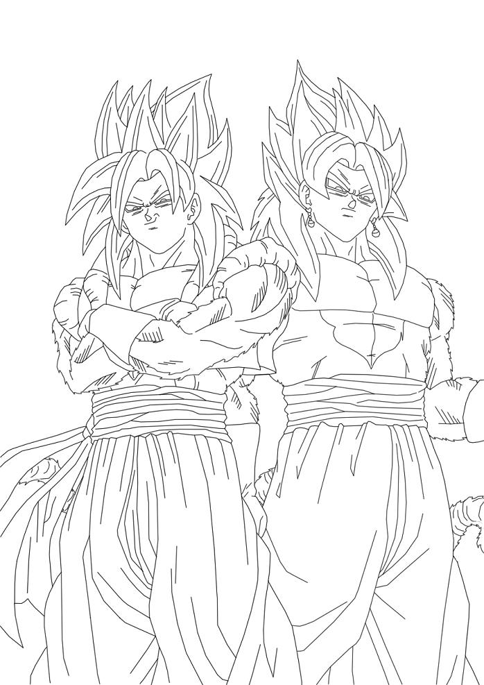 Broly Dragon Ball Z Coloring Pages Free Famous Cartoon Pictures