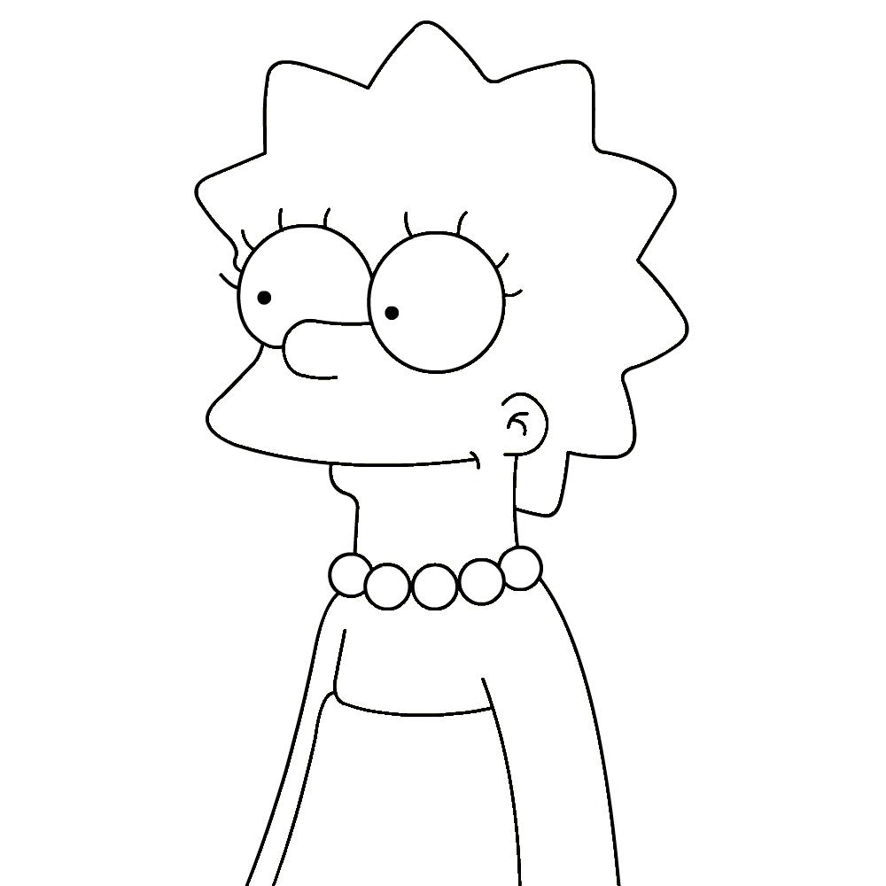 Coloriage Lisa Simpson à imprimer et colorier