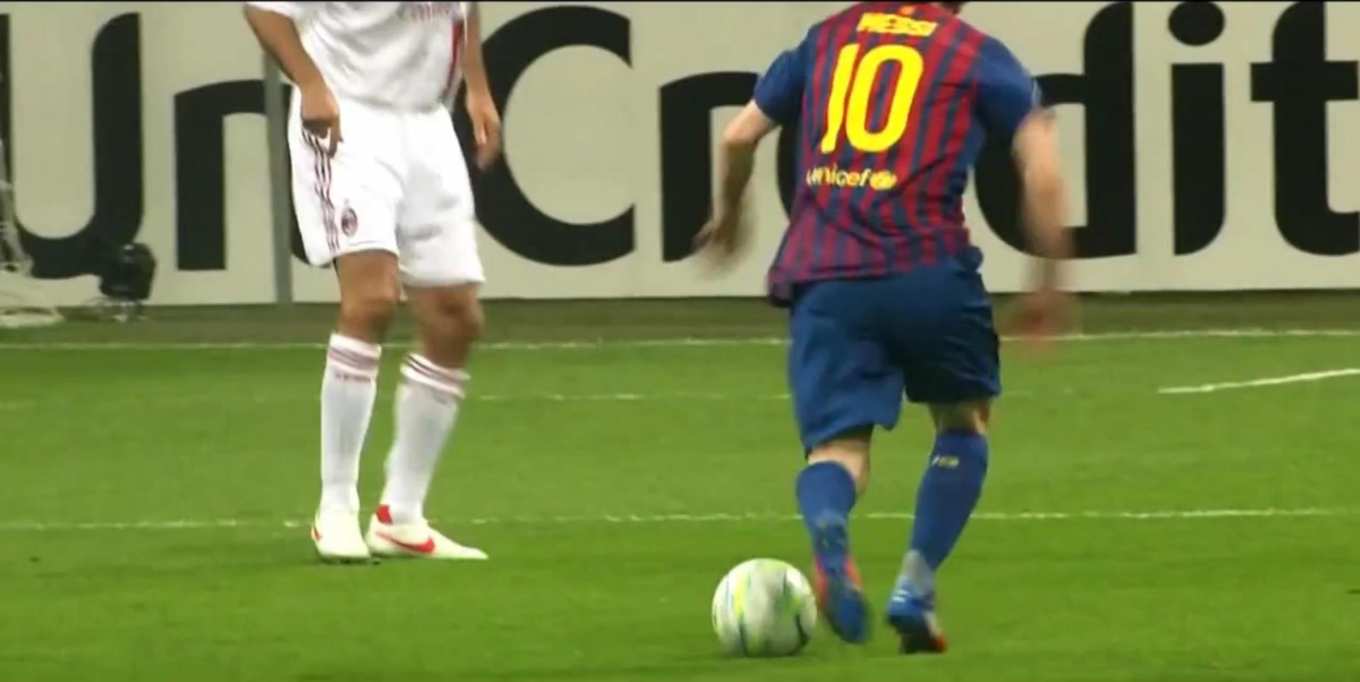 Messi vs milan 2012