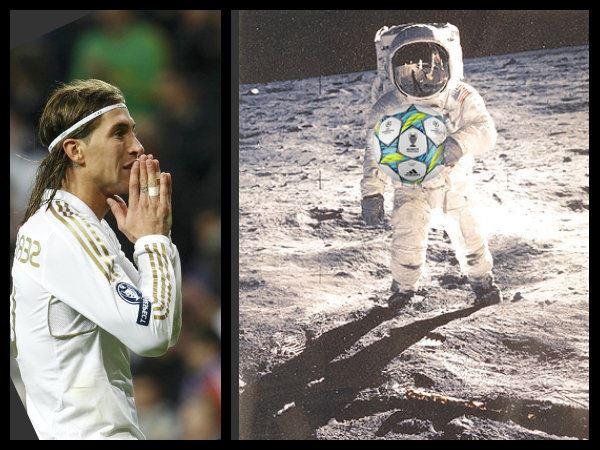 Sergio Ramos tir sur la lune