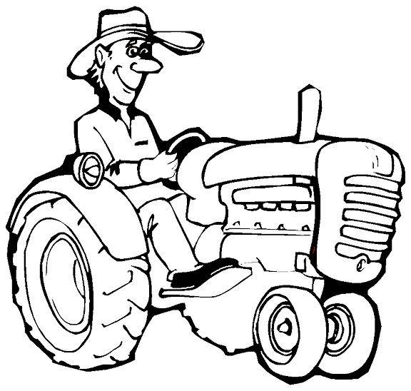 Coloriage agriculteur
