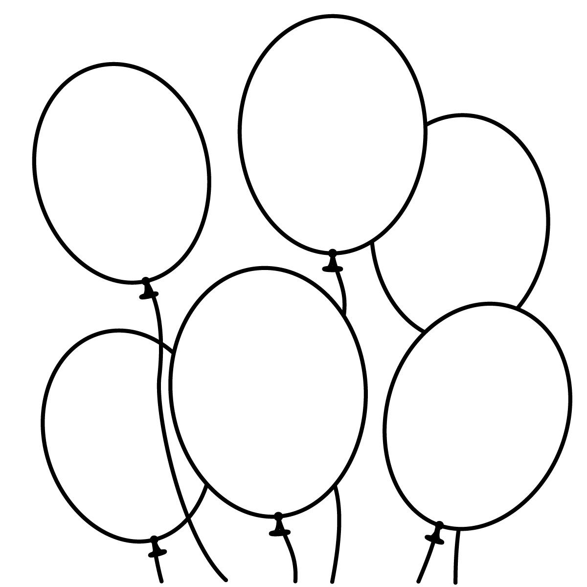 Coloriage ballons d'anniversaire