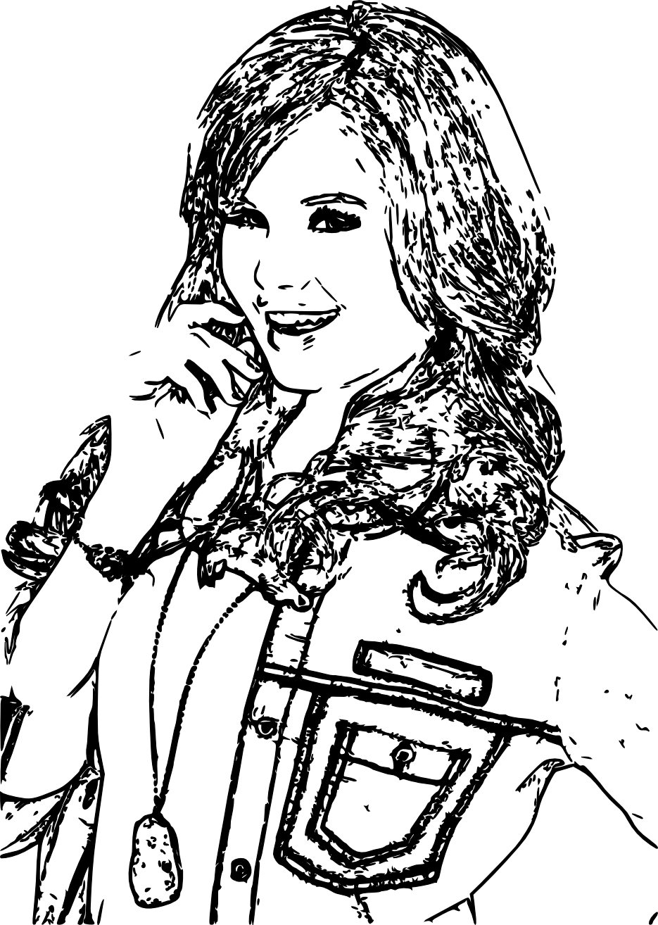 Debby Ryan Jessie Free Coloring Pages