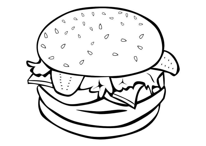 Coloriage Hamburger