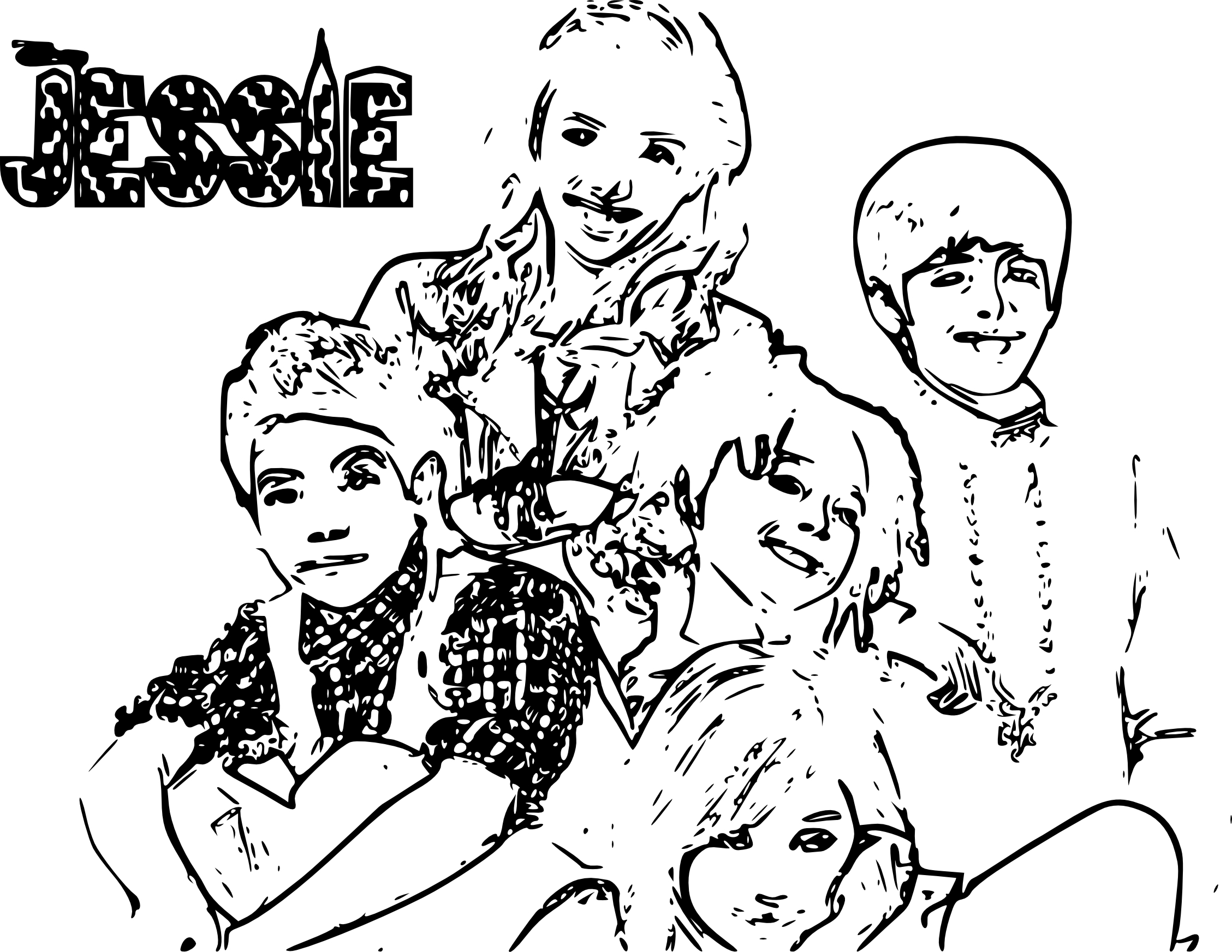 disney channel coloring pages jessie - photo#10