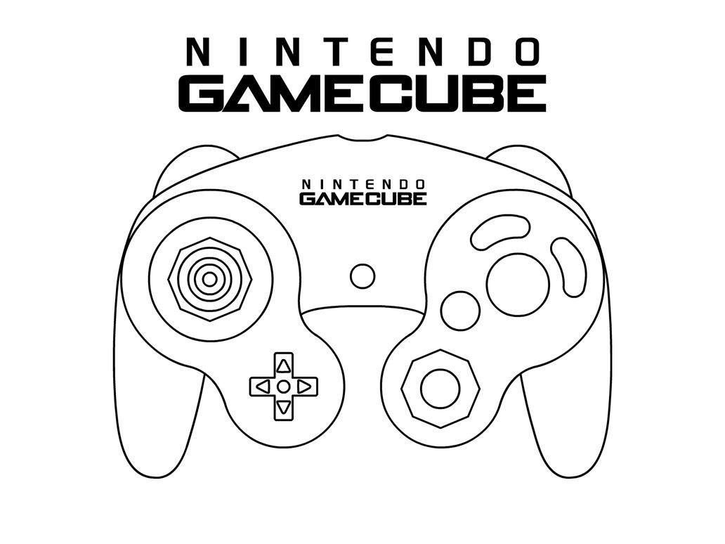 Coloriage manette Gamecube