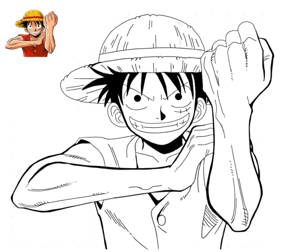 Coloriage Monkey D. Luffy