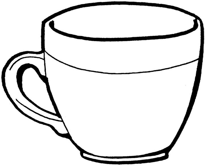 Coloriage tasse de th imprimer et colorier - Tasse de cafe dessin ...