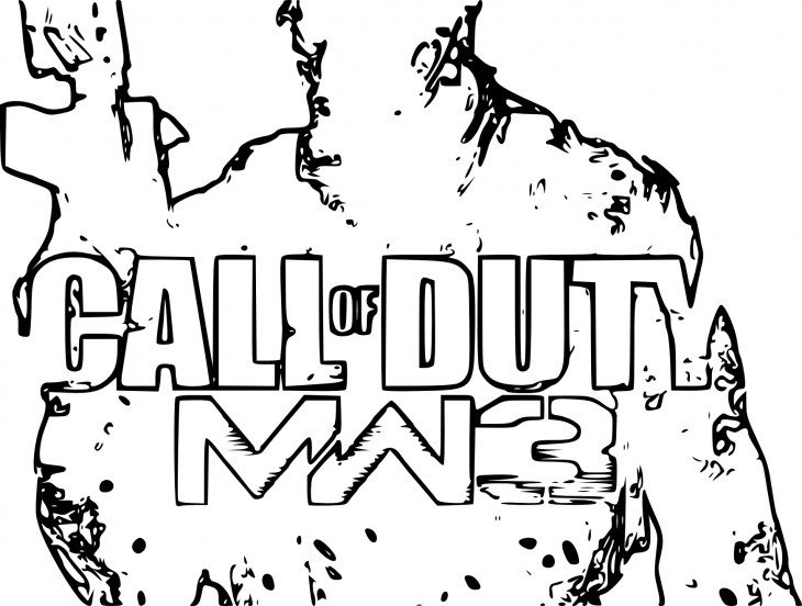 Coloriage Modern Warfare 3