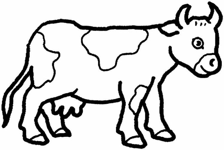 Coloriage Vache Gratuit à Imprimer Et Colorier