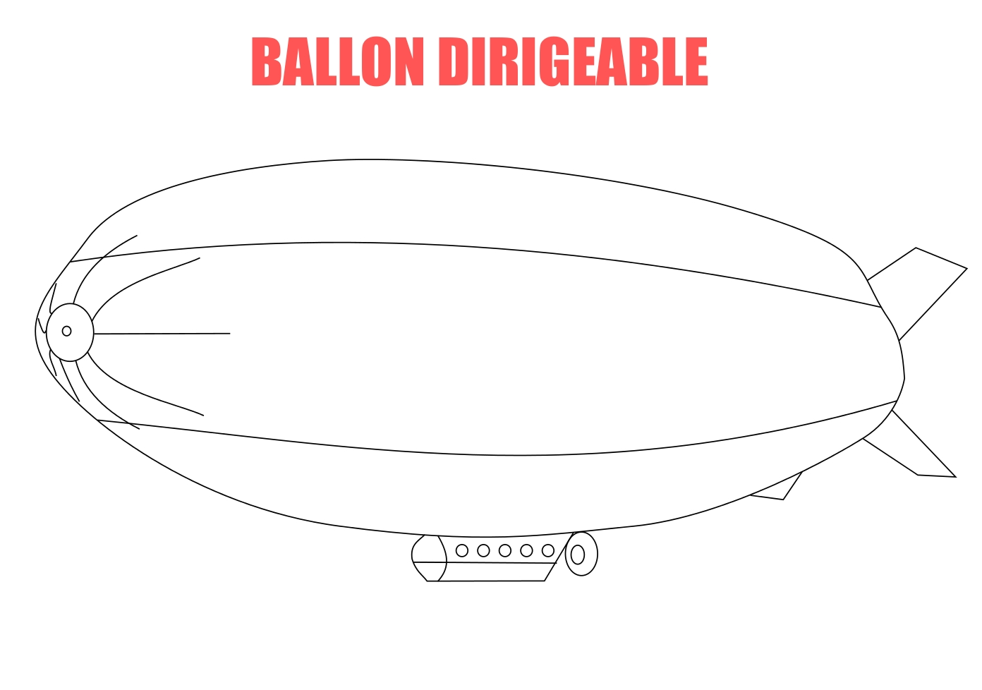 Coloriage ballon dirigeable
