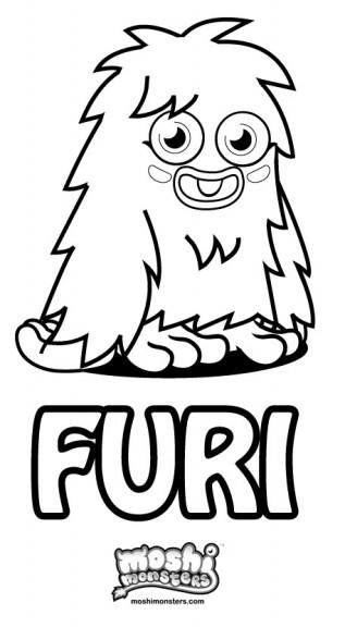 Coloriage Furi Moshi Monsters