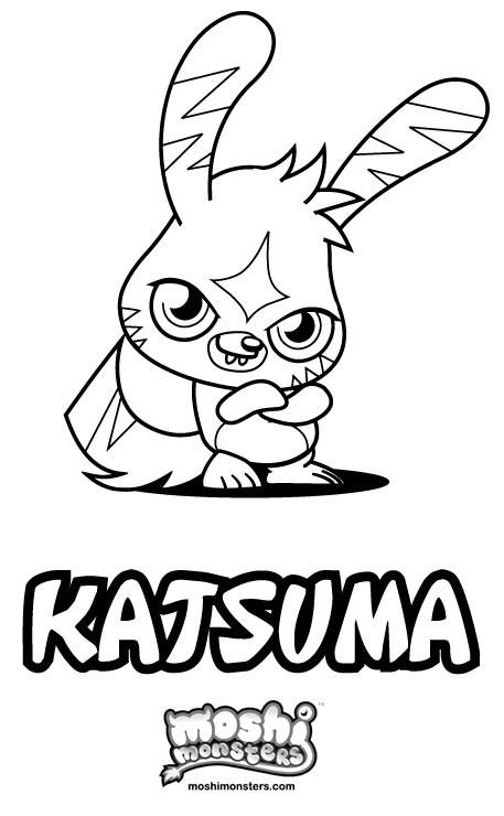 Coloriage Katsuma Moshi Monsters