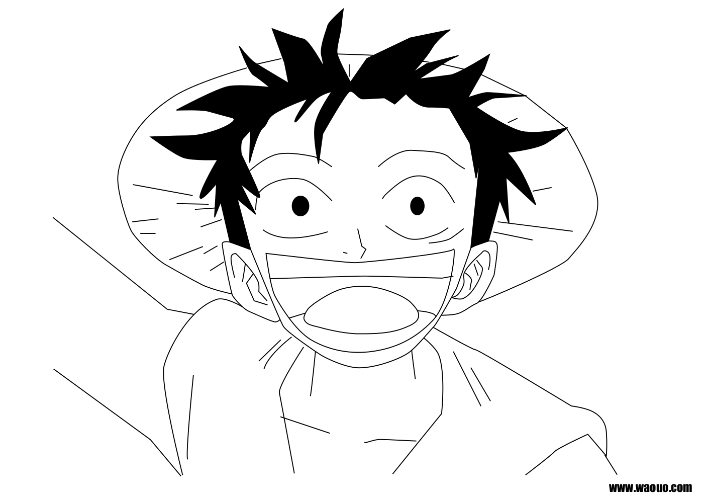 Coloriage Luffy