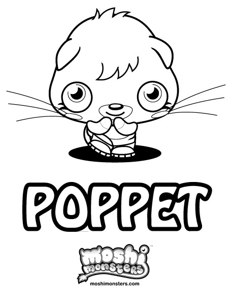 Coloriage Poppet Moshi Monsters