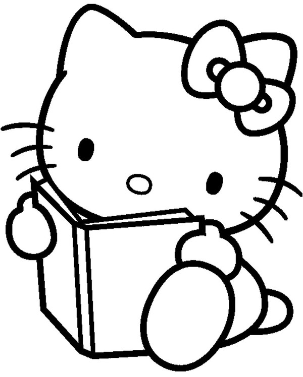 Hello Kitty avec un livre