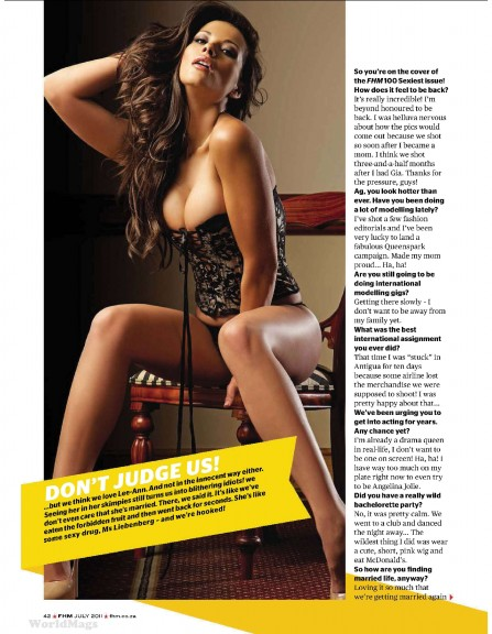 Lee-Ann Liebenberg hot FHM