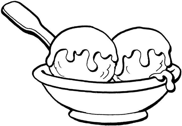 Coloriage crème glacée