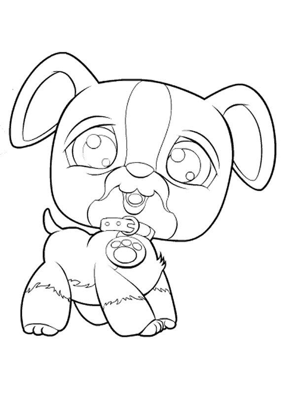 Coloriage Pet Shop chien