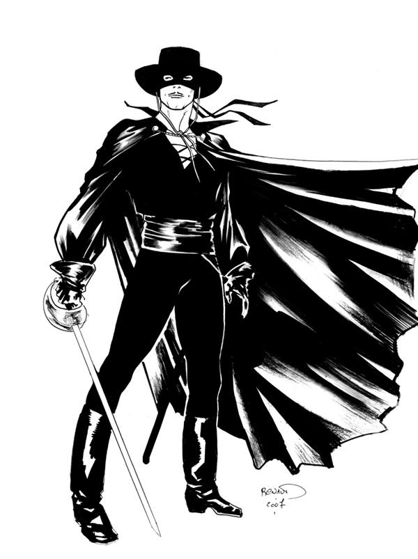 Coloriage Du H 233 Ros Zorro 224 Imprimer Et Colorier