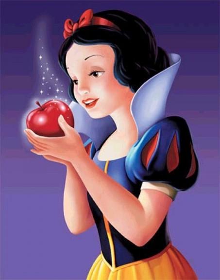 Blanche Neige pomme