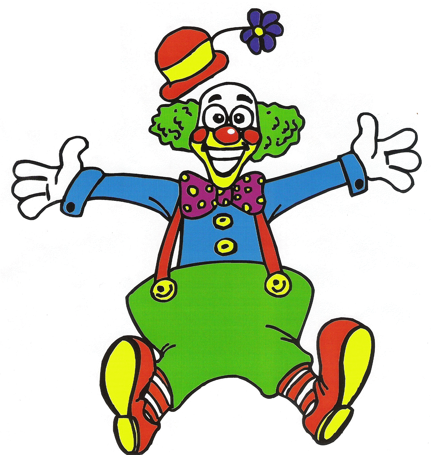 Coloriage clown fait son show imprimer et colorier for Disegno pagliaccio da colorare