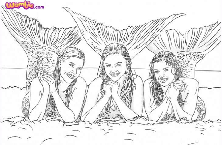 Mako Mermaids H20 Just Add Water Coloring Pages Sketch Coloring Page