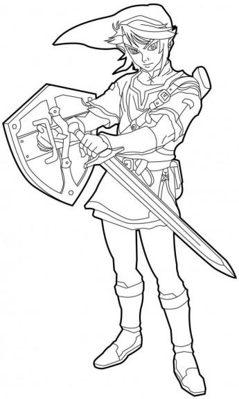 Coloriage Link Zelda