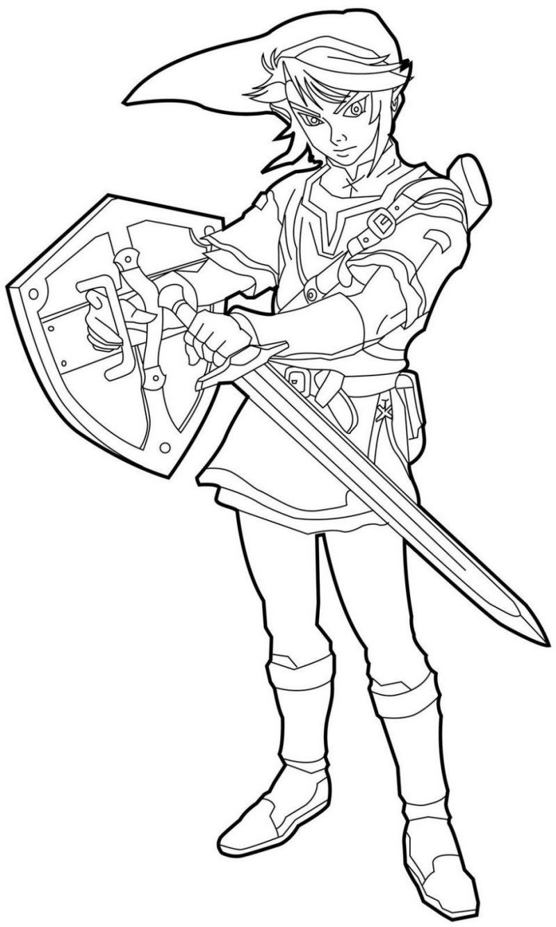 Coloriage Link de Zelda à imprimer et colorier