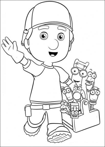 Coloriage Manny et ses outils