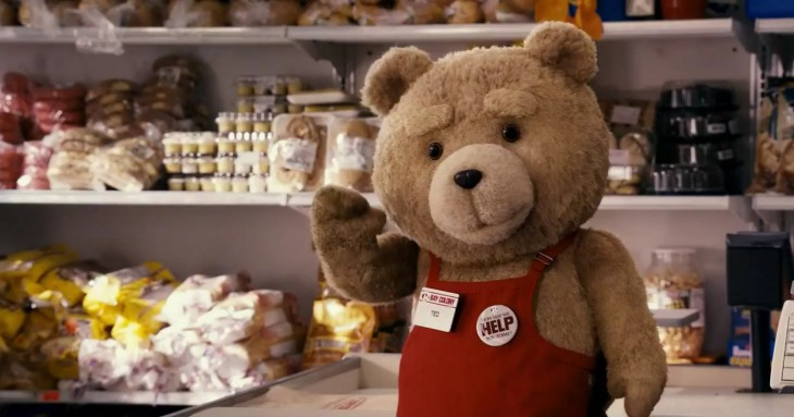 Ted au supermarché
