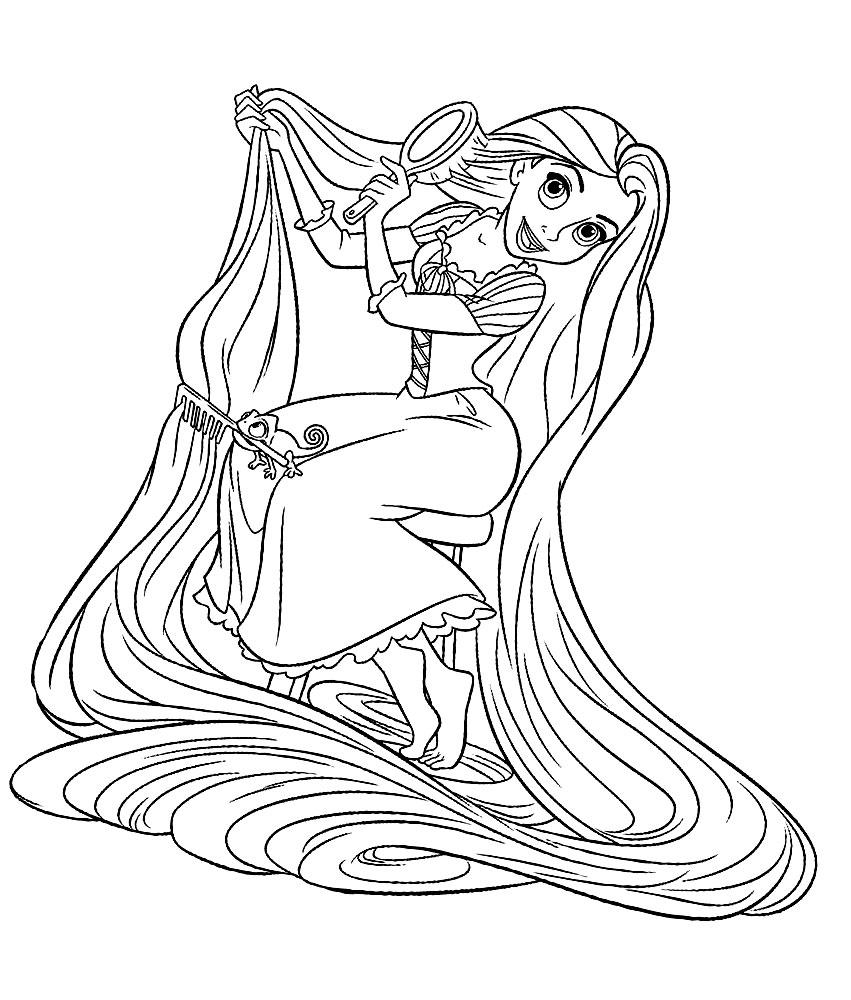 Coloriage Princesse Raiponce Disney A Imprimer Et Colorier
