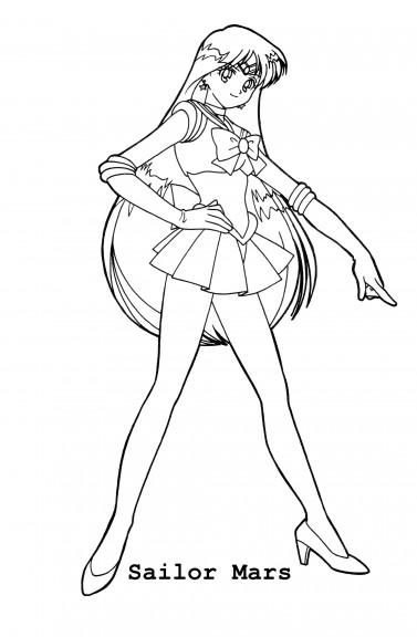 Coloriage Sailor Mars