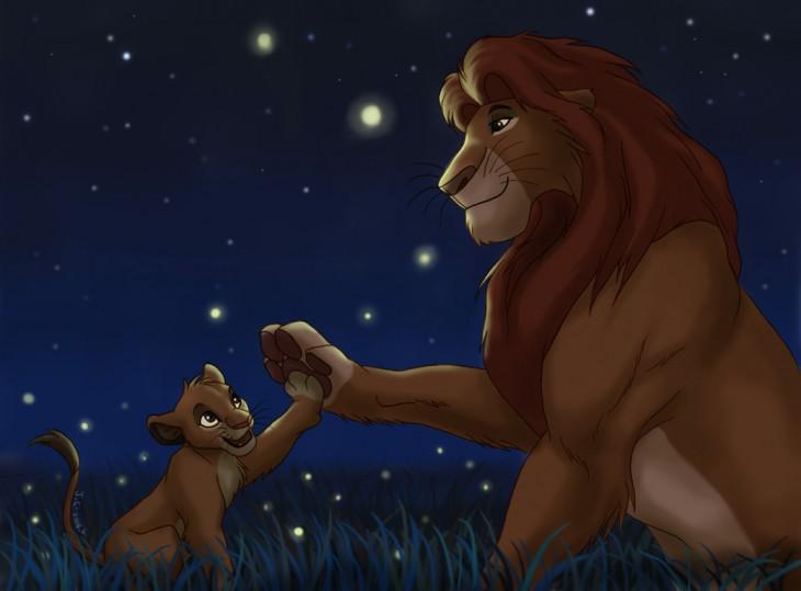 Mufasa et Simba Roi Lion