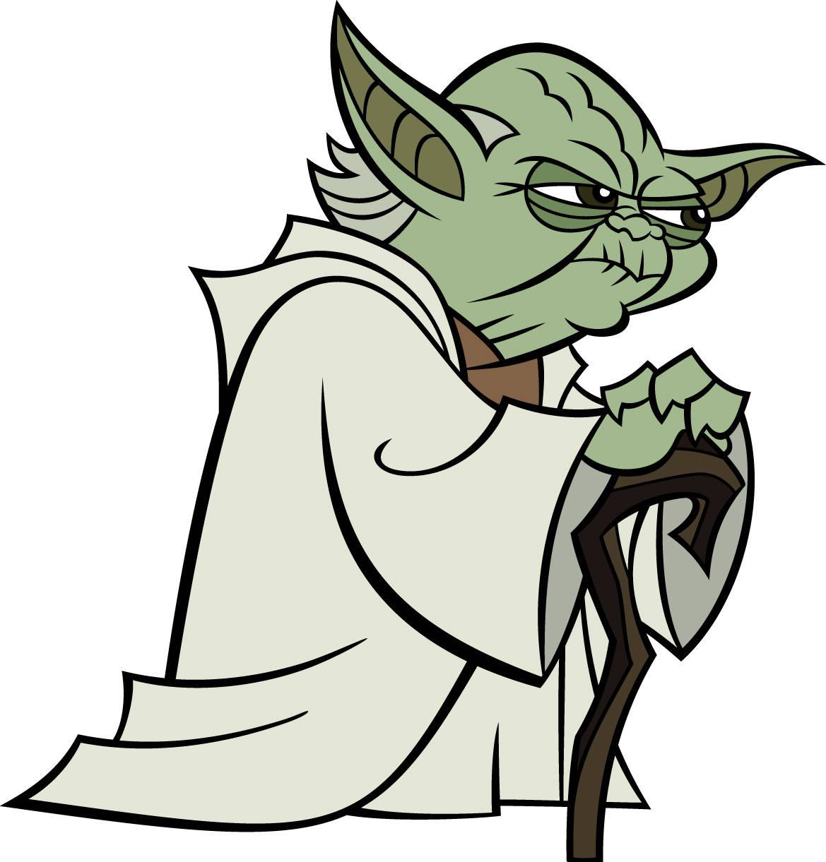 Coloriage Yoda de Star Wars à imprimer et colorier