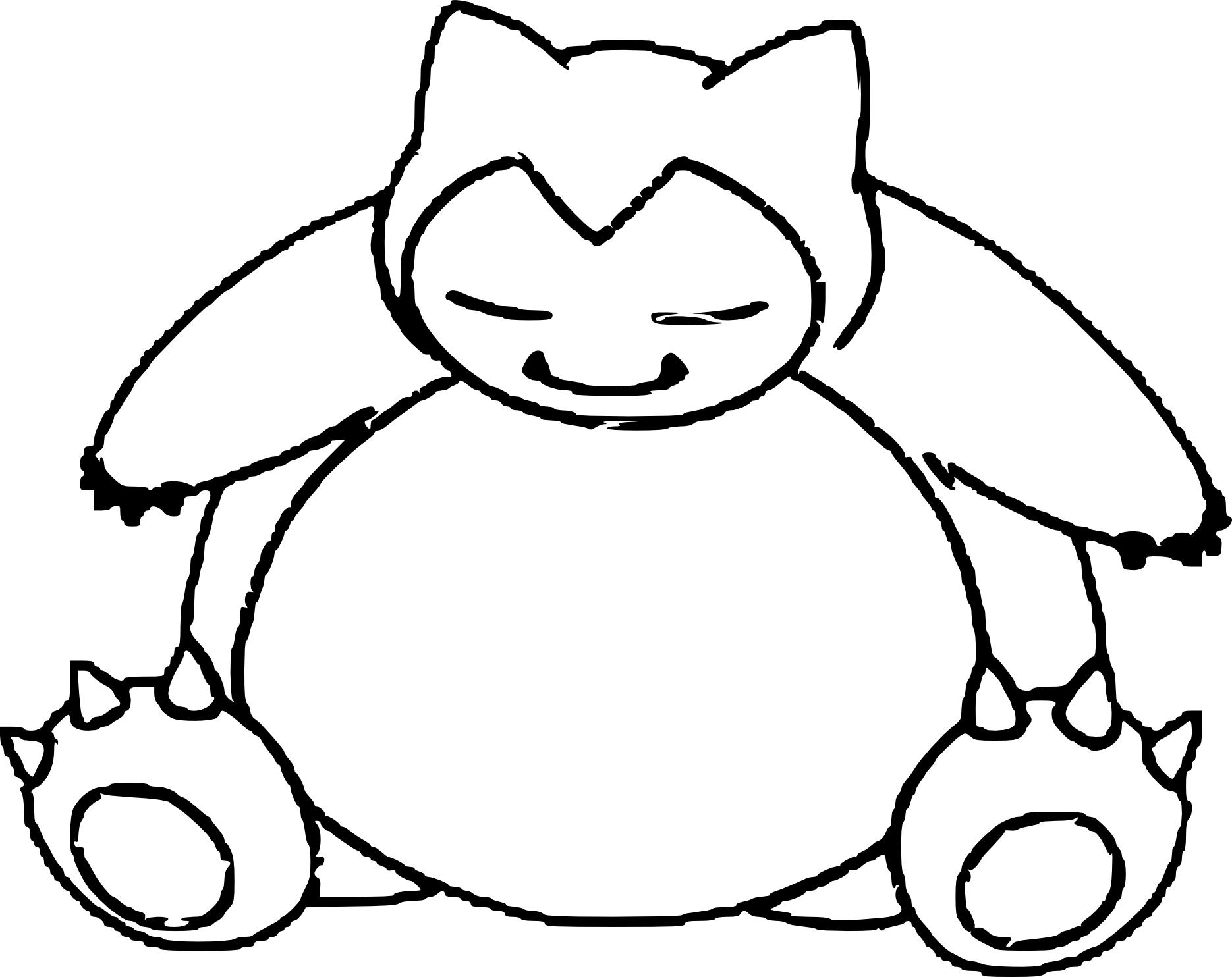 Ronflex Coloriage Ronflex Pokemon A Imprimer Et Colorier