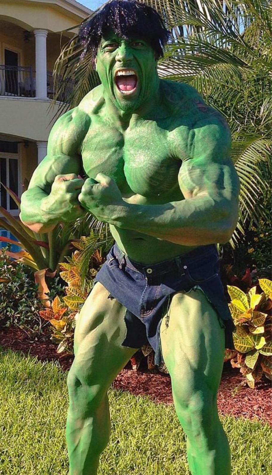 Dwayne Johnson Hulk Halloween