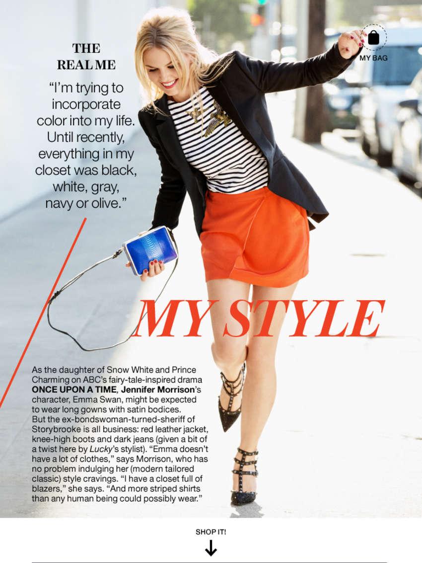Jennifer Morrison hot Lucky Magazine