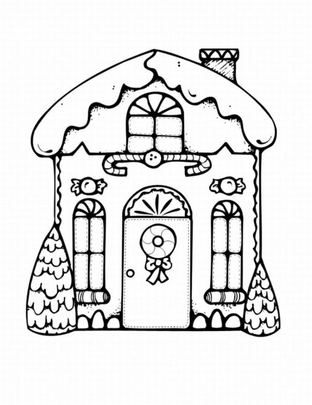 Coloriage Maison Noël