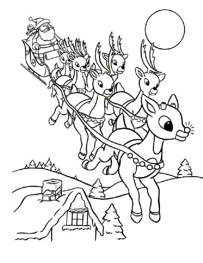 Coloriage rennes magiques du p re no l imprimer gratuit - Coloriage de renne ...
