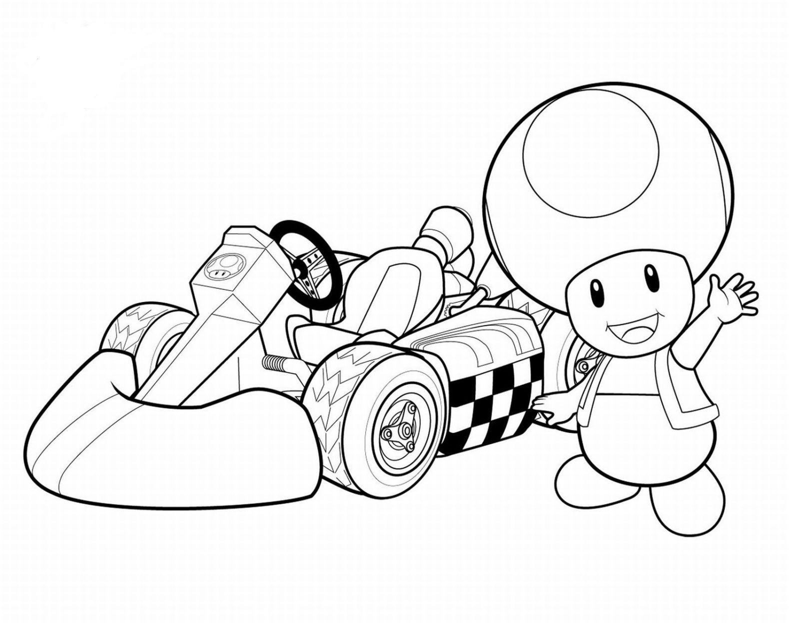 Coloriage Toad Mario Kart