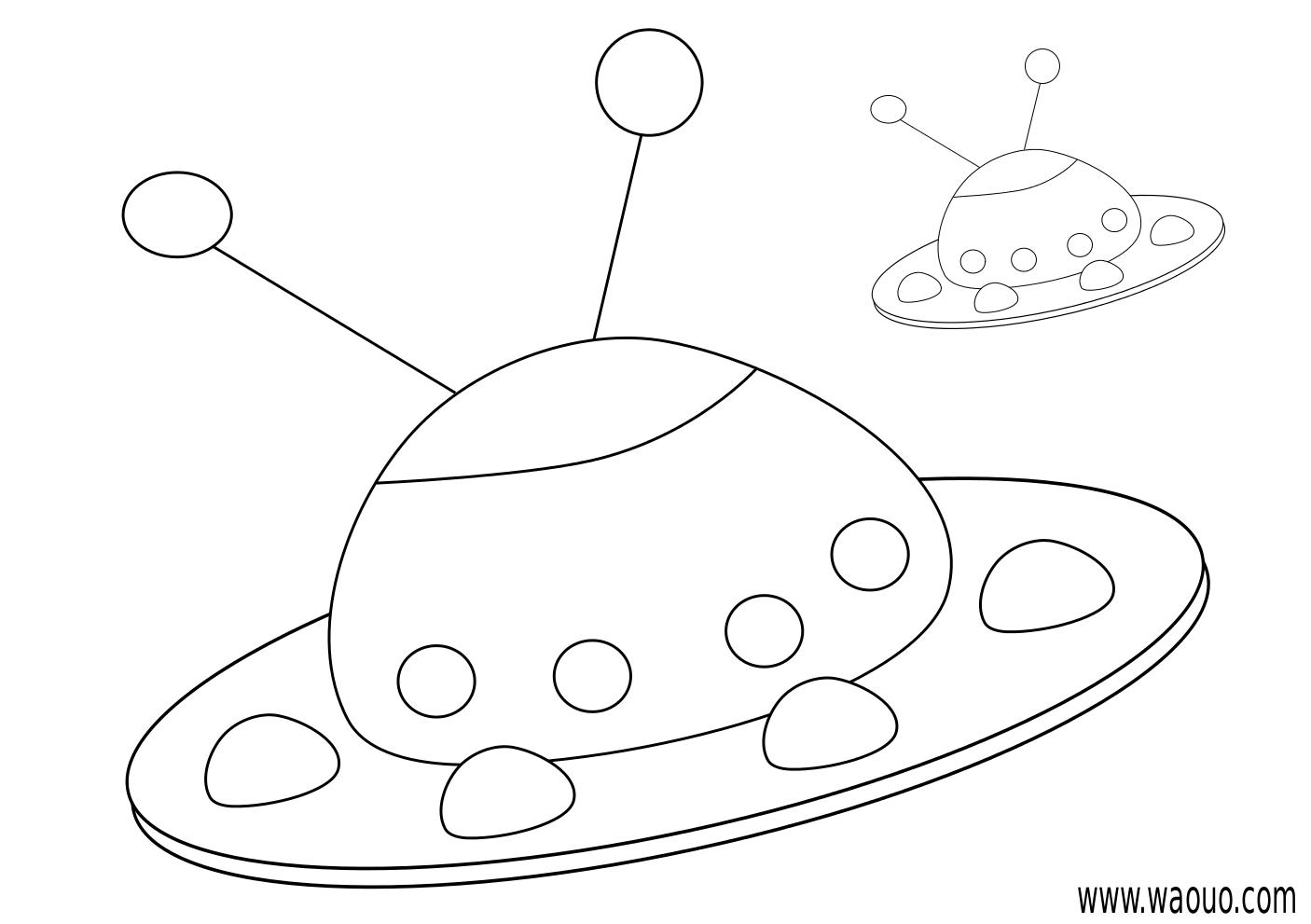 Coloriage soucoupe volante imprimer et colorier - Soucoupe volante dessin ...