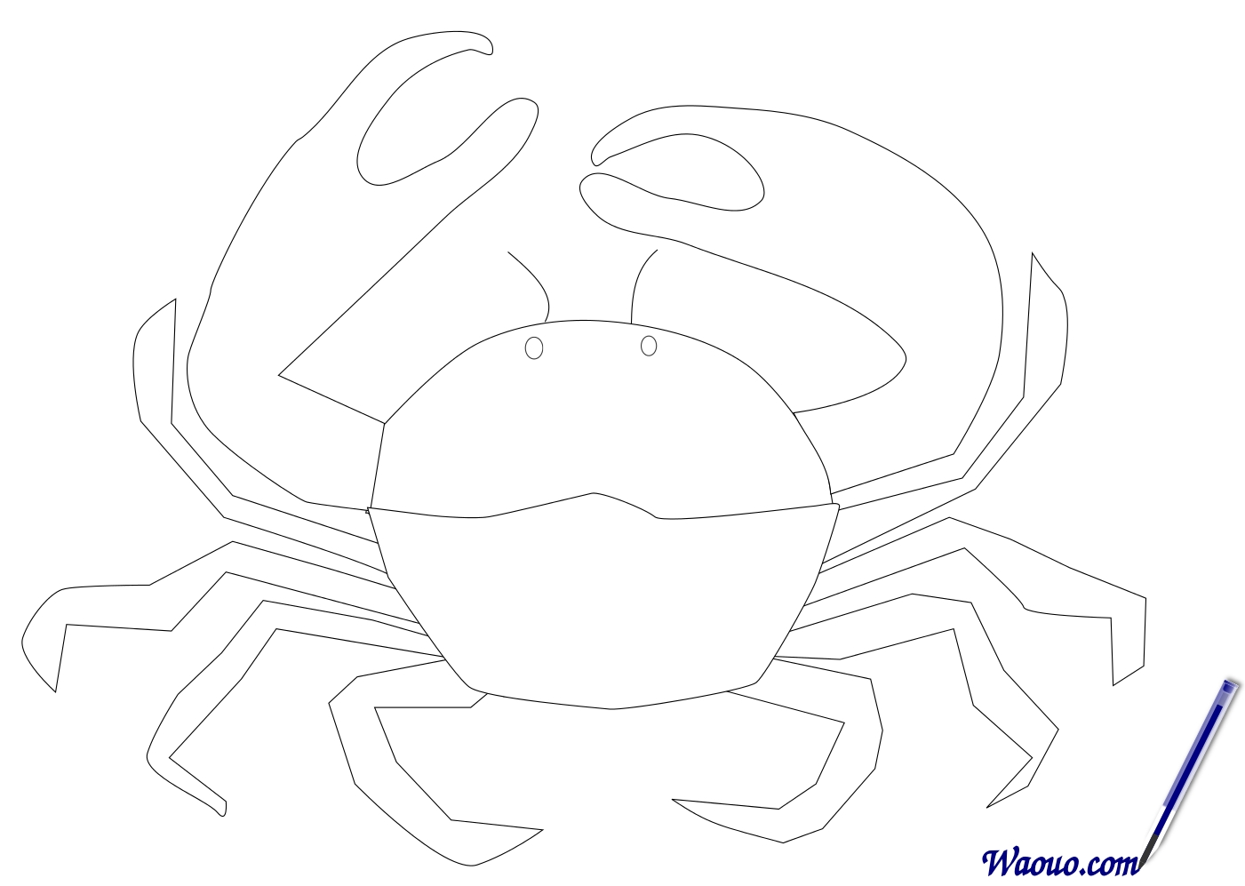 Crabe 55 Animaux Coloriages A Imprimer