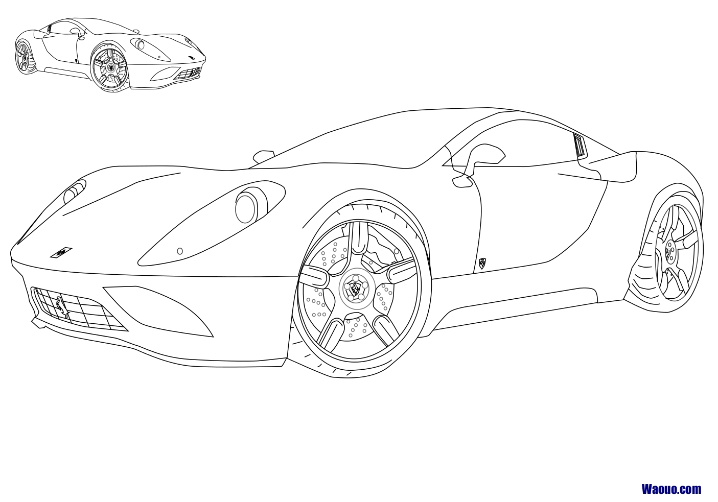 Coloriage Ferrari FF
