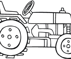 Coloriage tracteur - Image de tracteur a colorier ...