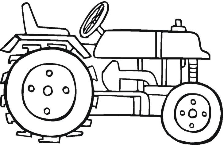 Coloriage tracteur