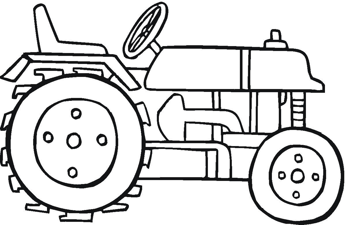 Dimension Garage Coloriage Tracteur Agricole