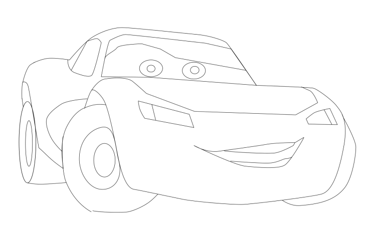 Coloriage Cars Flash McQueen